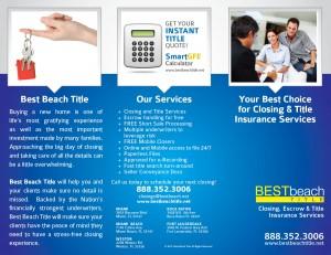 Best Beach Short Sale Tri-Fold Design