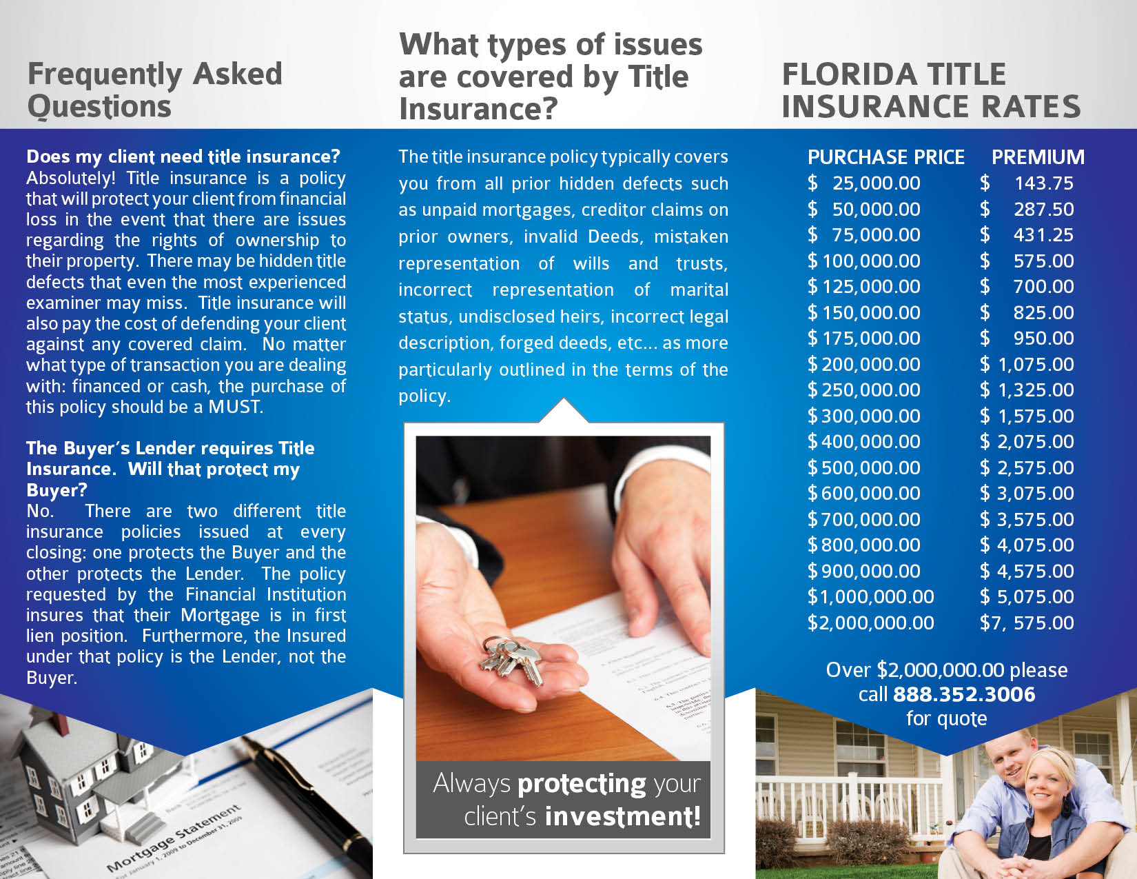 Best Beach Short Sale Tri-Fold Design