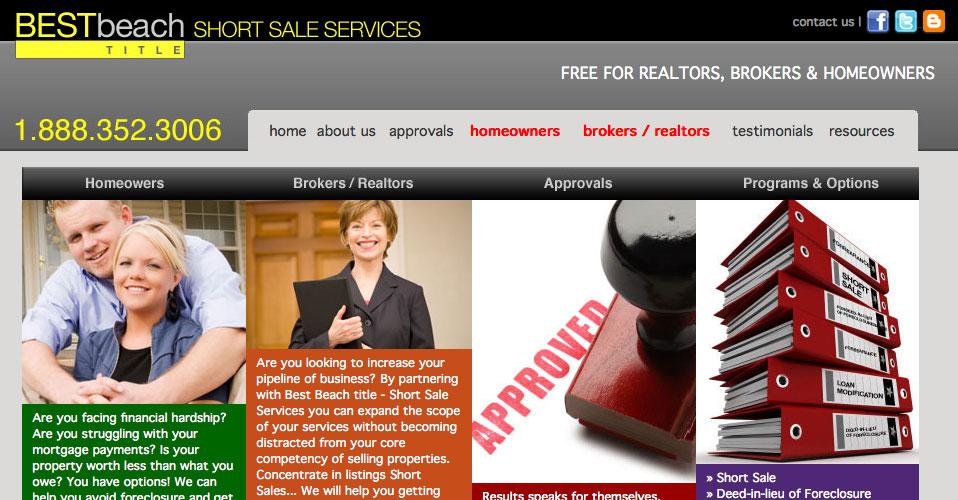 Best Beach Short Sale Web Design