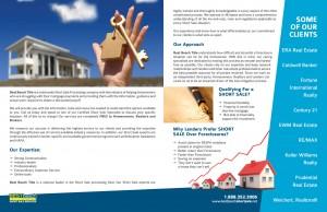 Best Beach Short Sale Brochure Design