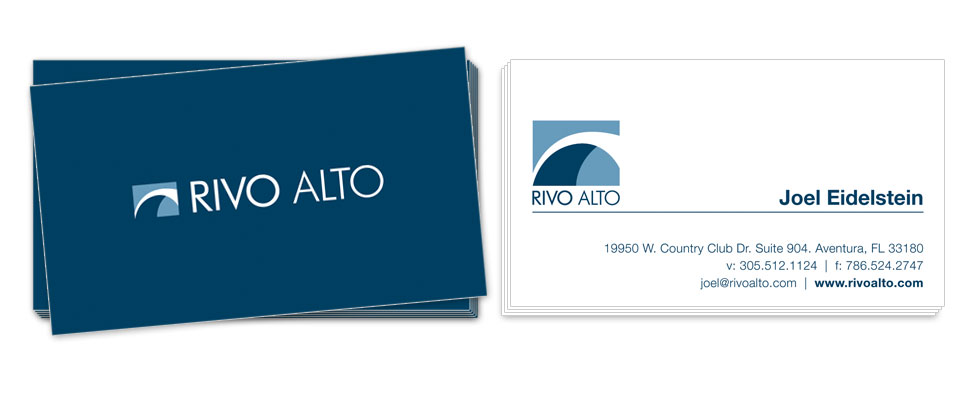 Rivo Alto Business Card Design