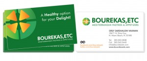 Bourekas, Etc. Business Card Design