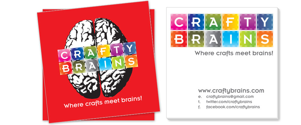 Crafty Brains Business Card Design