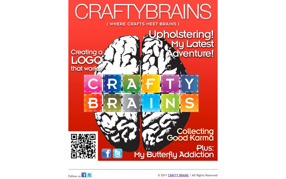 Crafty Brains Email Design