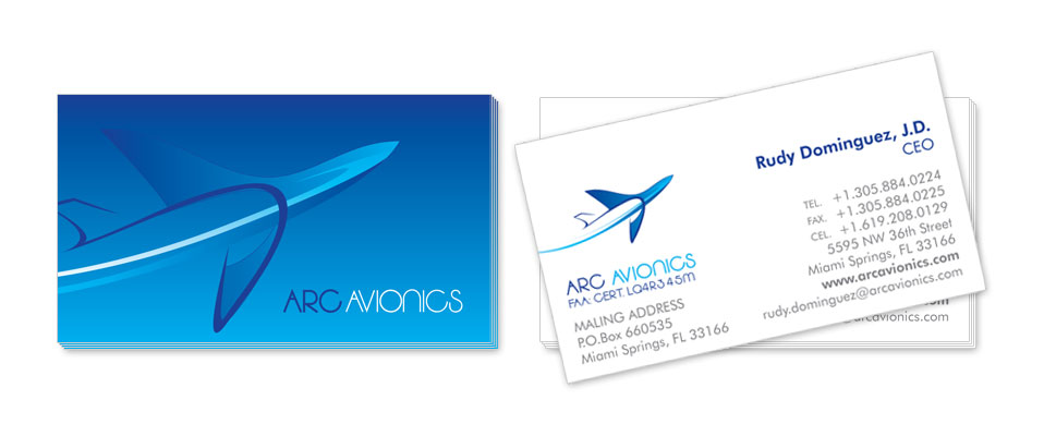 ARC Avionics Business Card Design