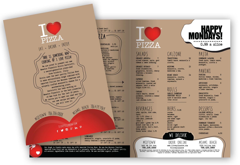 I Love Pizza - Menu Design