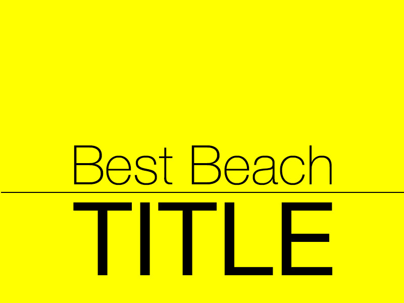 Best Beach Title