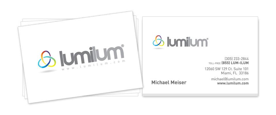 Lumilum Business Cards