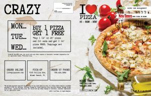 I Love Pizza Menu Design by M&O