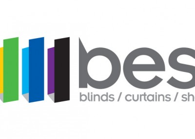 Best Blinds & Curtains - Logo Design by M&O