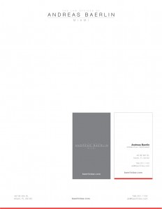 Andreas Baerlin - Stationery Design by M&O