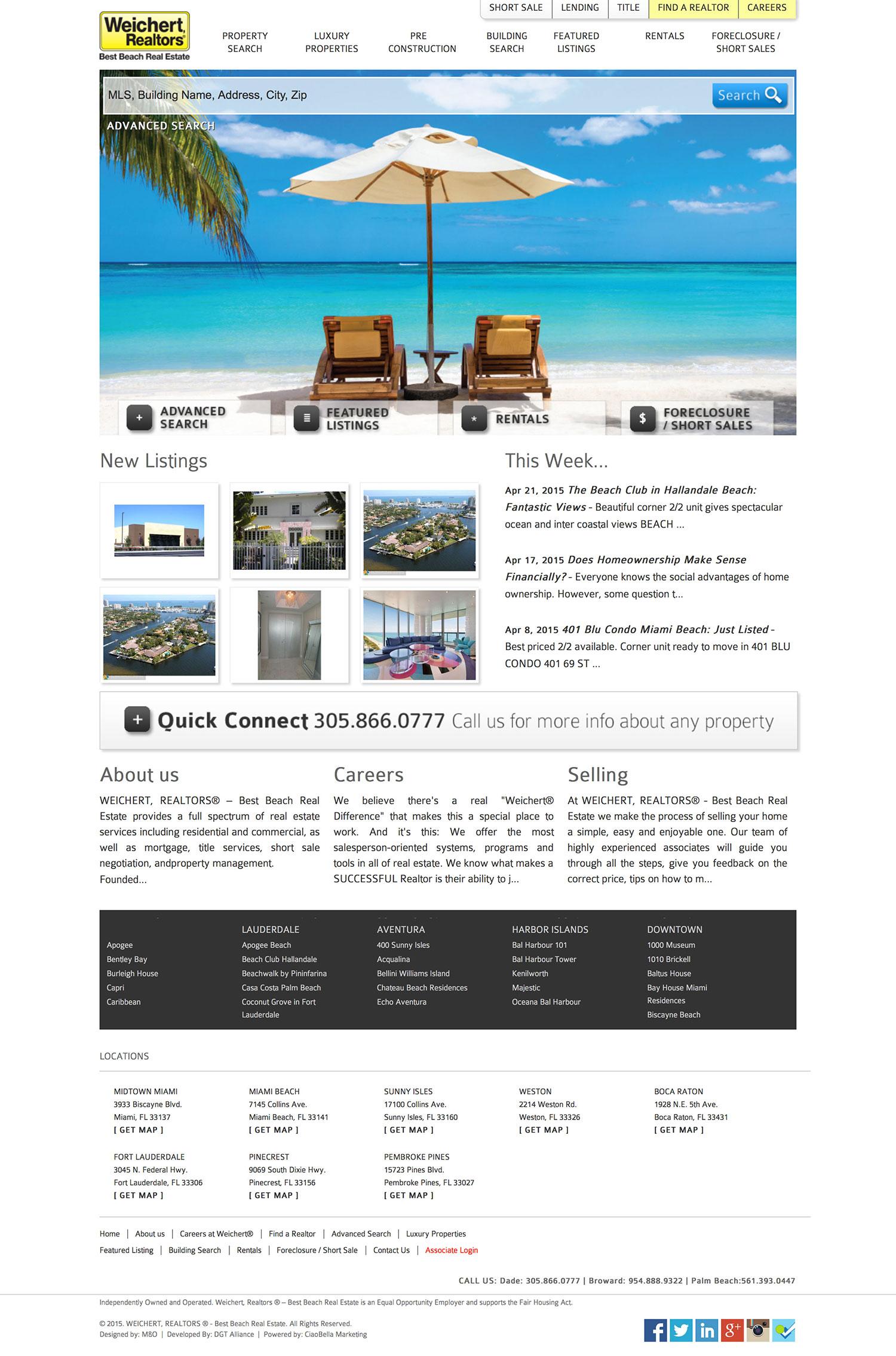 Weichert Best Beach - Web Design