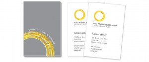New World Global Research - Business Card Design