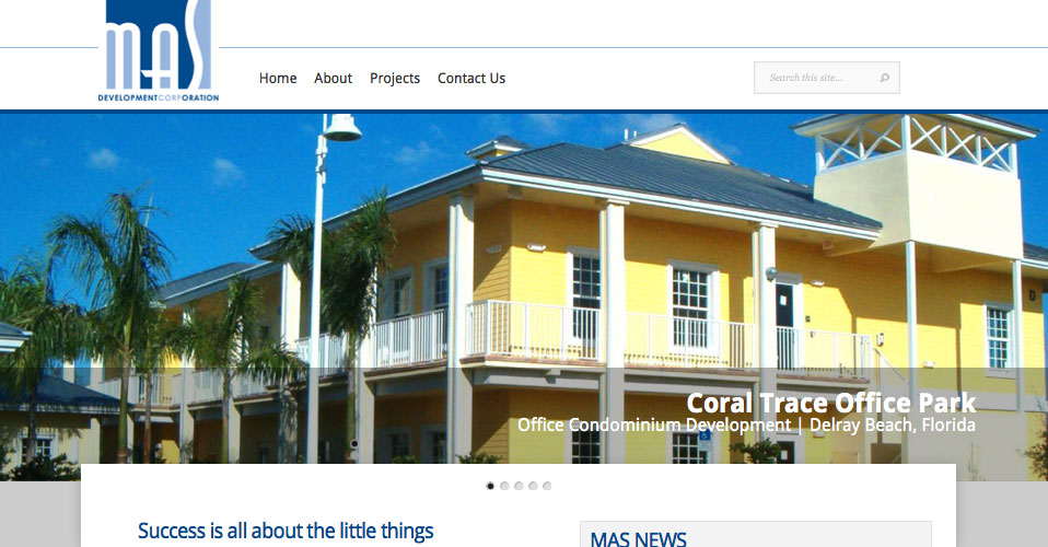 Mas Development Website Design