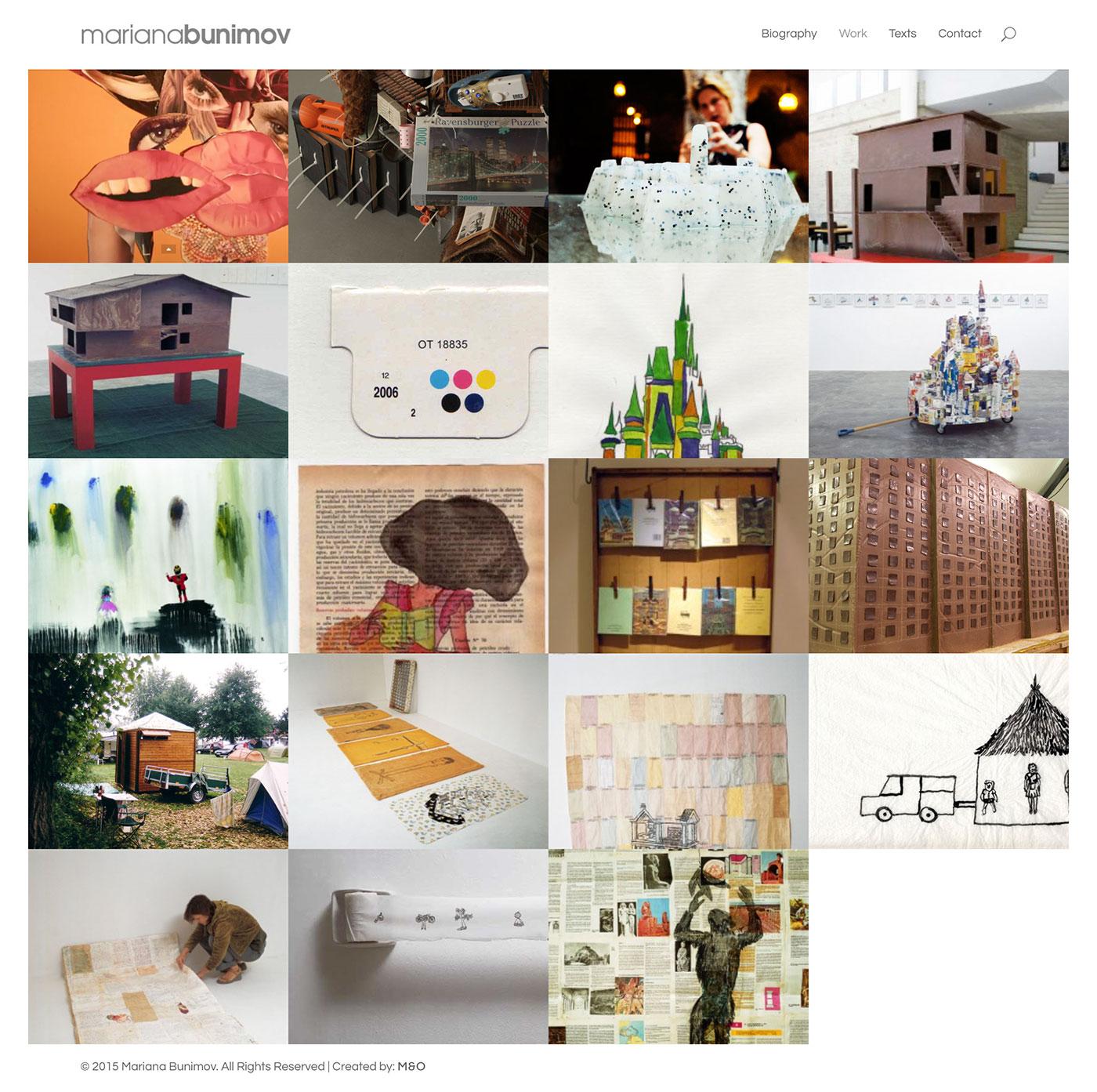 Mariana Bunimov Web Design