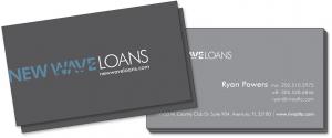 New Wave Loans Business Card Design