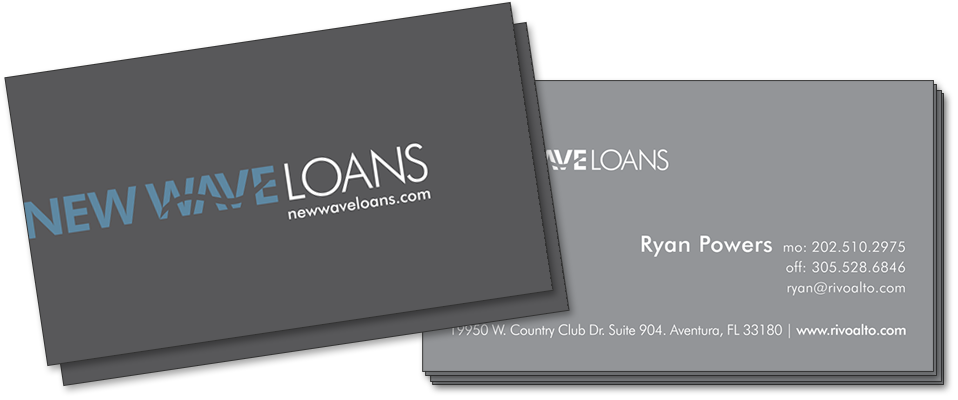 New Wave Loans Business Card Design