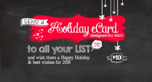 Send a Holiday eCard to all your LIST and wish them a Happy Holiday and best wishes for 2016.