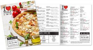 I Love Pizza - Menu Design by M&O