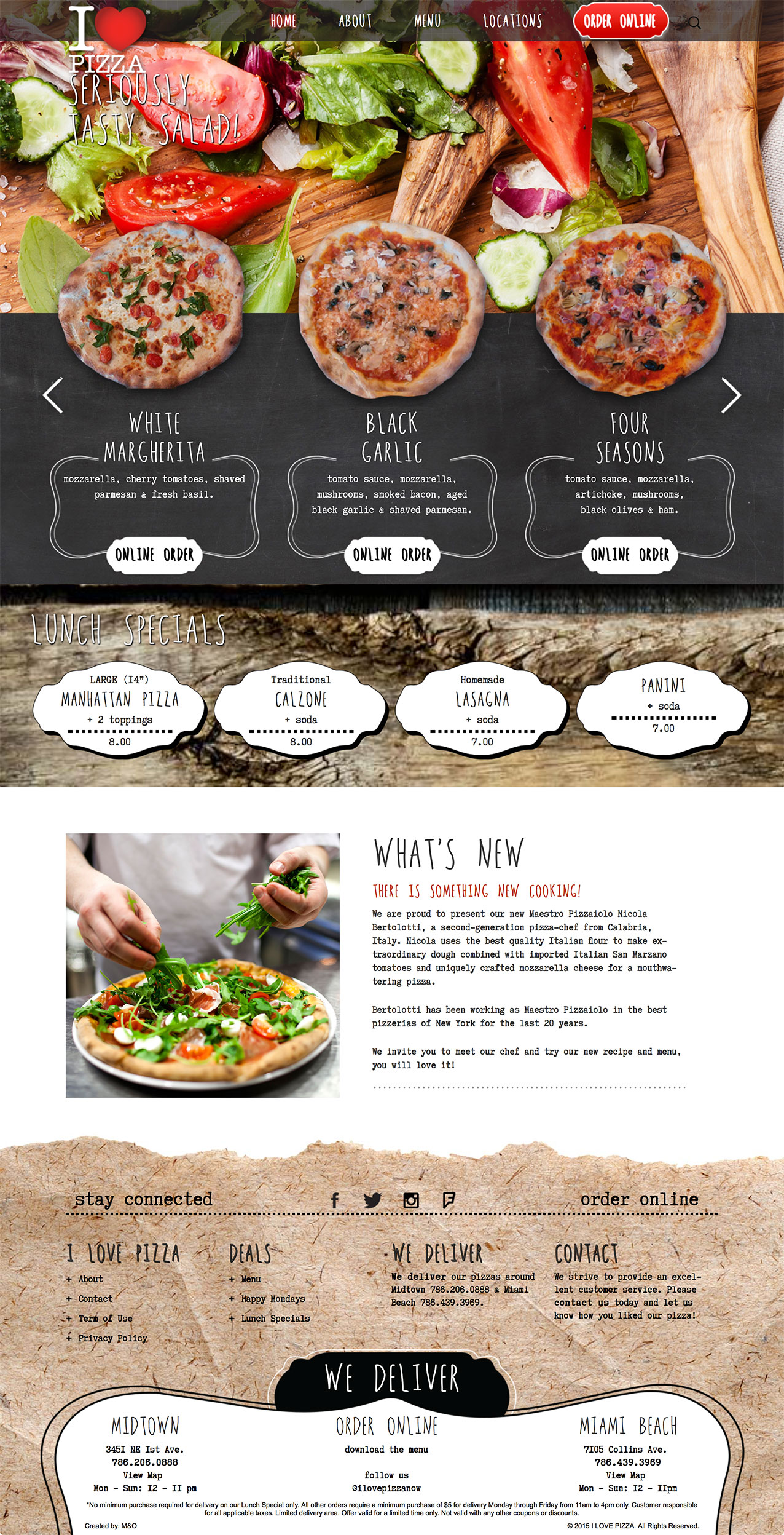 I Love Pizza New Web Design