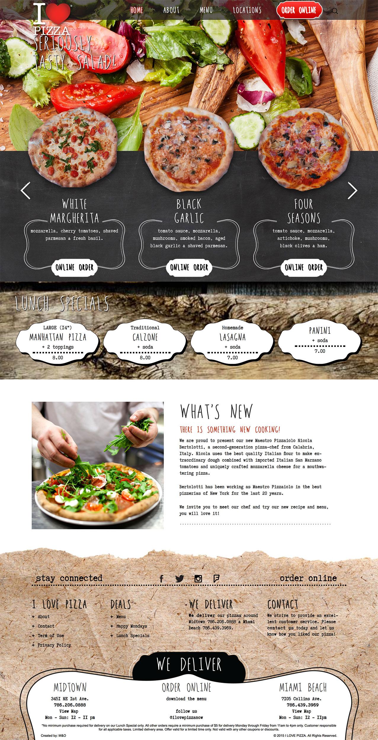 I Love Pizza New Web Design