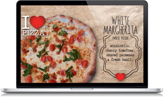 I Love Pizza Store Screen Design