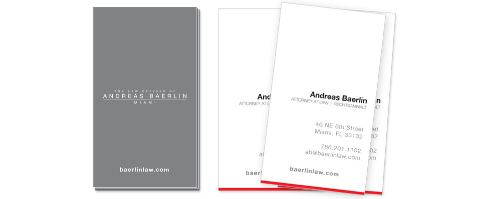 Andreas Baerlin - Business Card Design