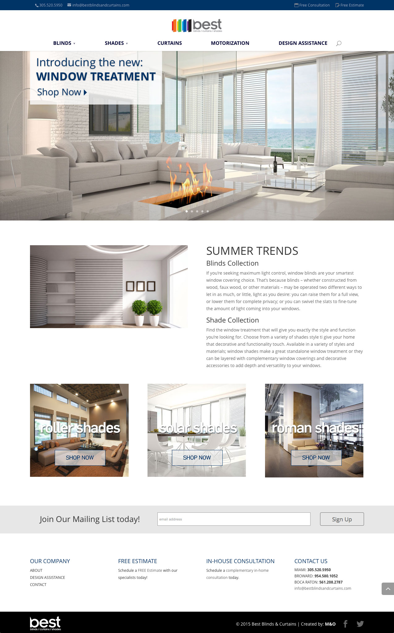Best Blinds & Curtains - Web Design by M&O