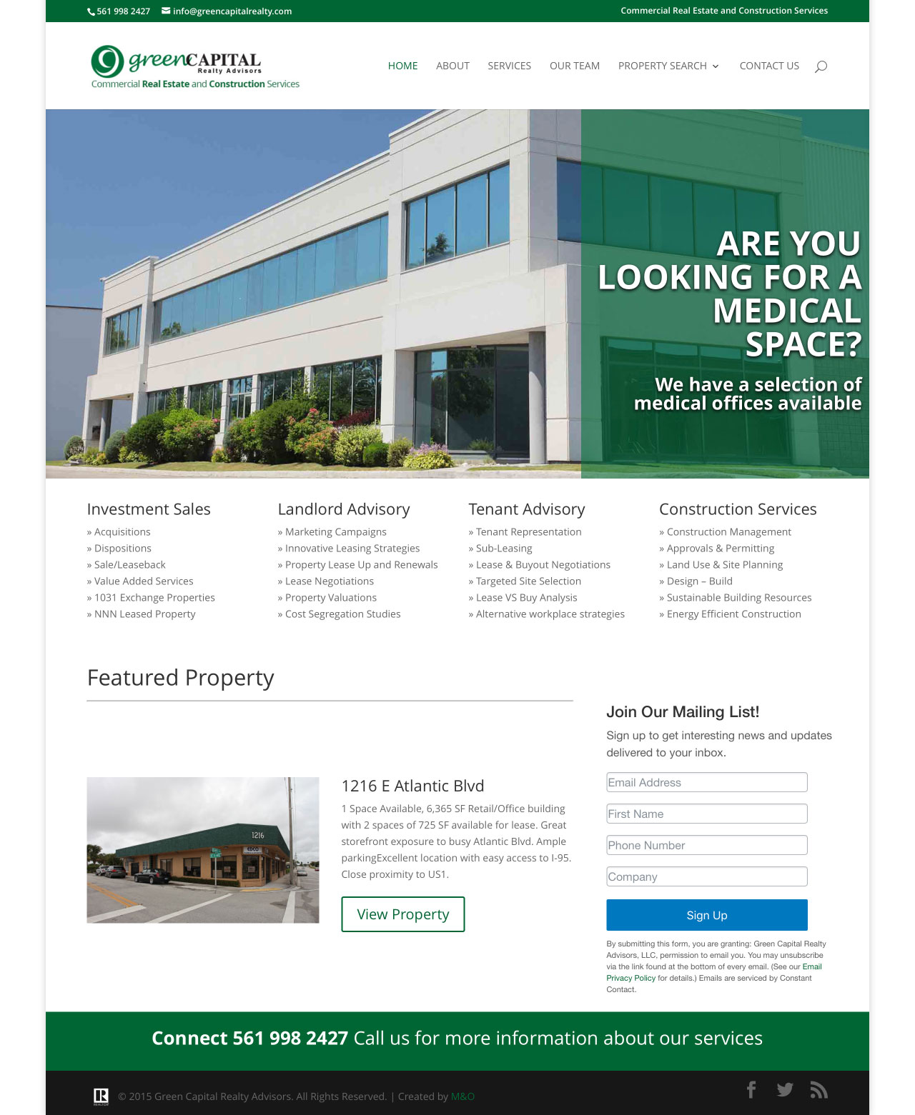 Green Capital Realty Webdesign by M&O