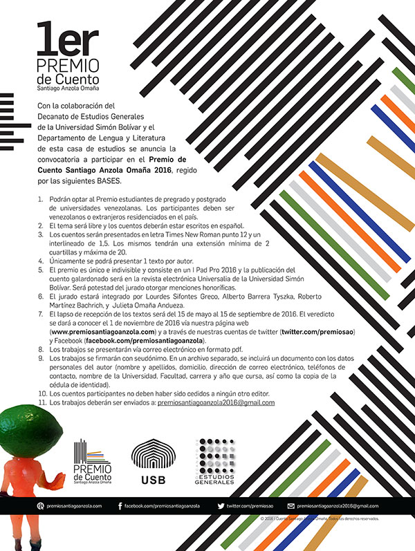 Poster Premio de Cuento Santiago Anzola Omaña
