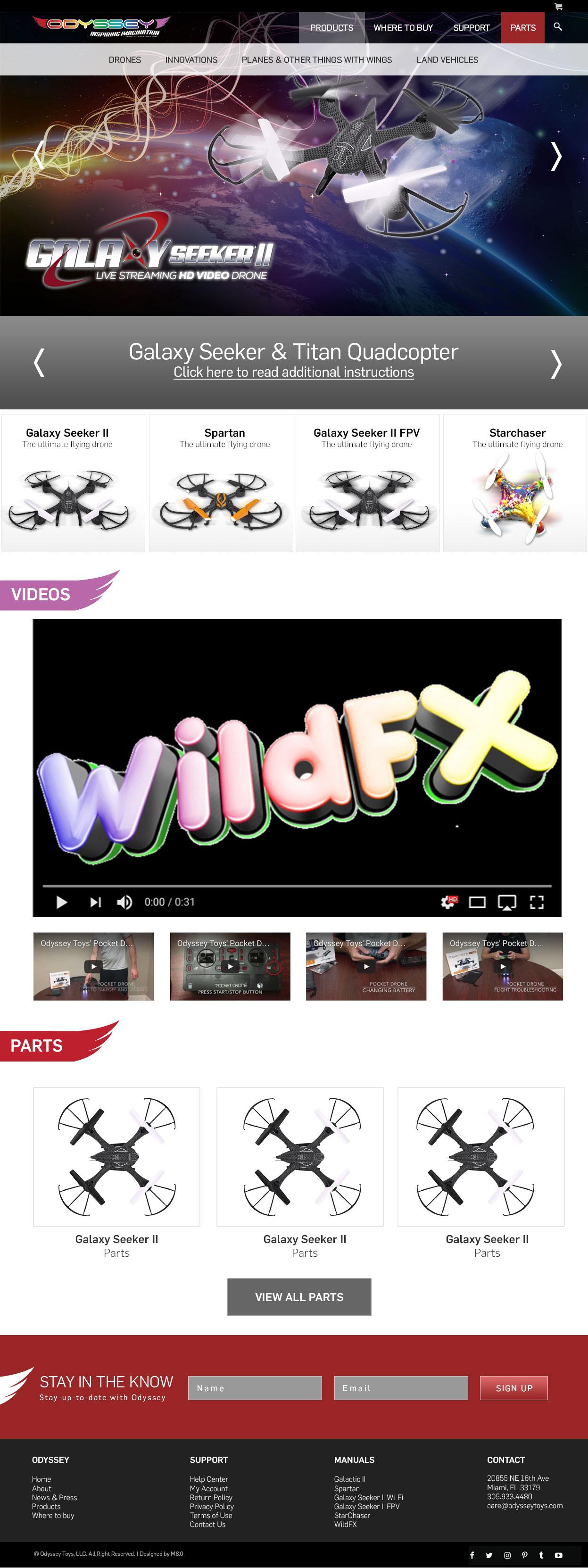 Odyssey Toys Web Design by M&O