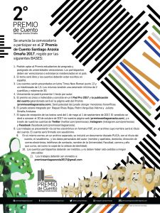 II Premio de Cuento Santiago Anzola Omaña - Poster Design