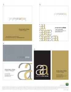 Business Cards Design for Anamaria Atias Design by M&O