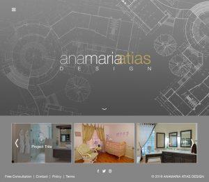 Web Design for Anamaria Atias Design by M&O