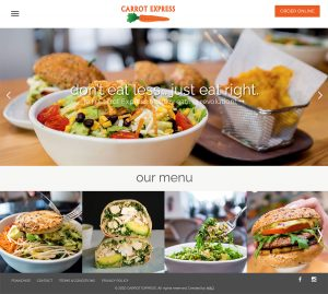 Web Design for Carrot Express by M&O