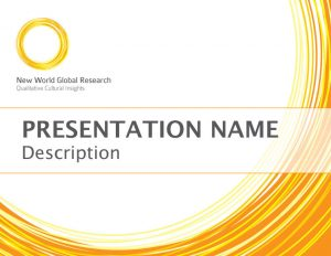 New World Global Research - Presentation Design